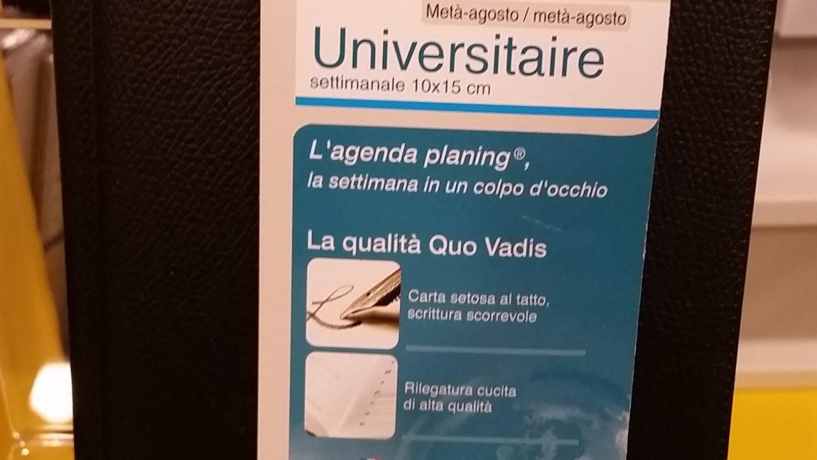 Agenda Universitaire 2016 Quo Vadis