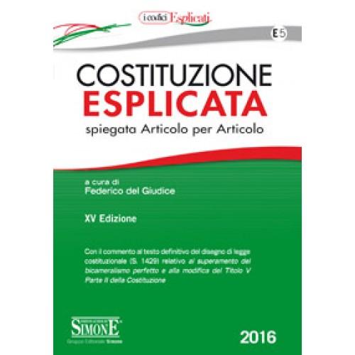 Costituzione esplicata 2016