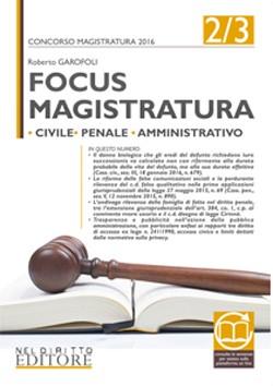 FOCUS MAGISTRATURA 2/3 Nel Diritto 2016