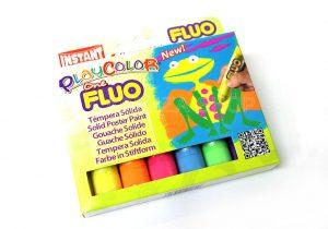 Tempera-Solida-PlayColor-One-Fluo-Confezione-da-6