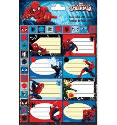 name labels spiderman
