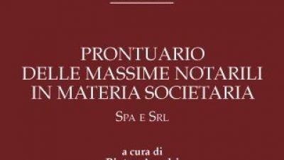 Prontuario delle massime notarili in materia societaria