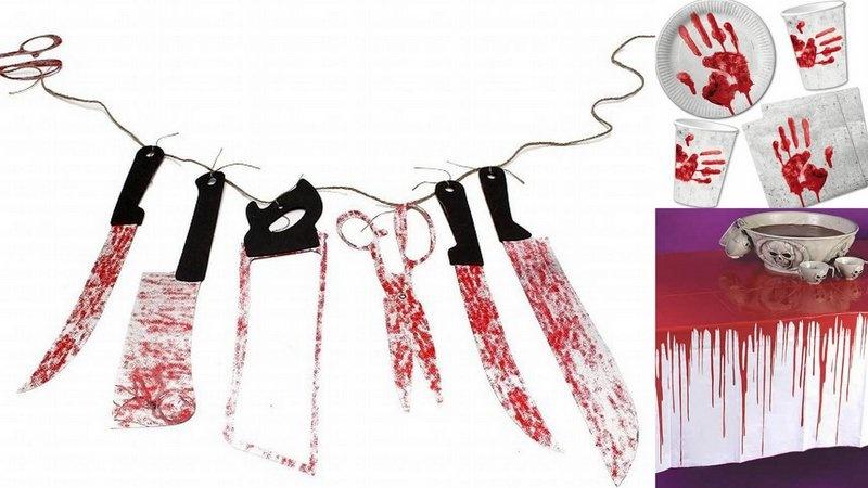 Halloween- coltelli sanguinosi