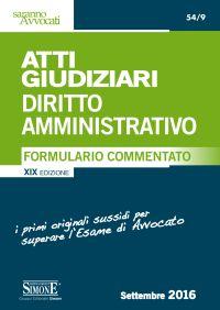 Formulario commentato diritto amministrativo