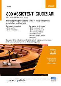 800 Assistenti Giudiziari -manuale-