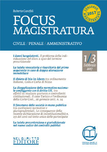 Focus Magistratura 1/3 febbraio 2017