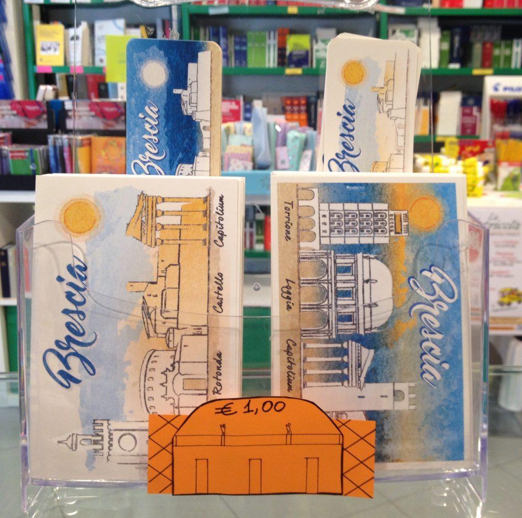 cartoline e segnalibri souvenir Brescia