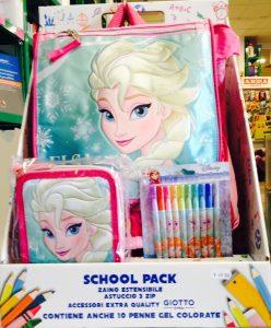 zaino, astuccio, colori Frozen