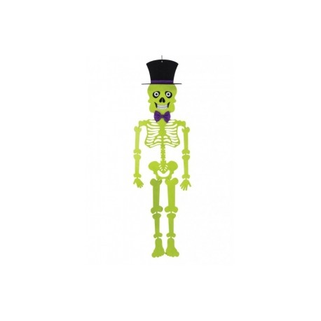 Scheletro halloween feltro 100 cm