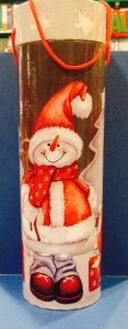 confezione regalo porta bottiglia natalizia