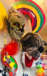 Maschera carnevale teschio messicano