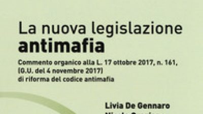 La nuova legislazione Antimafia