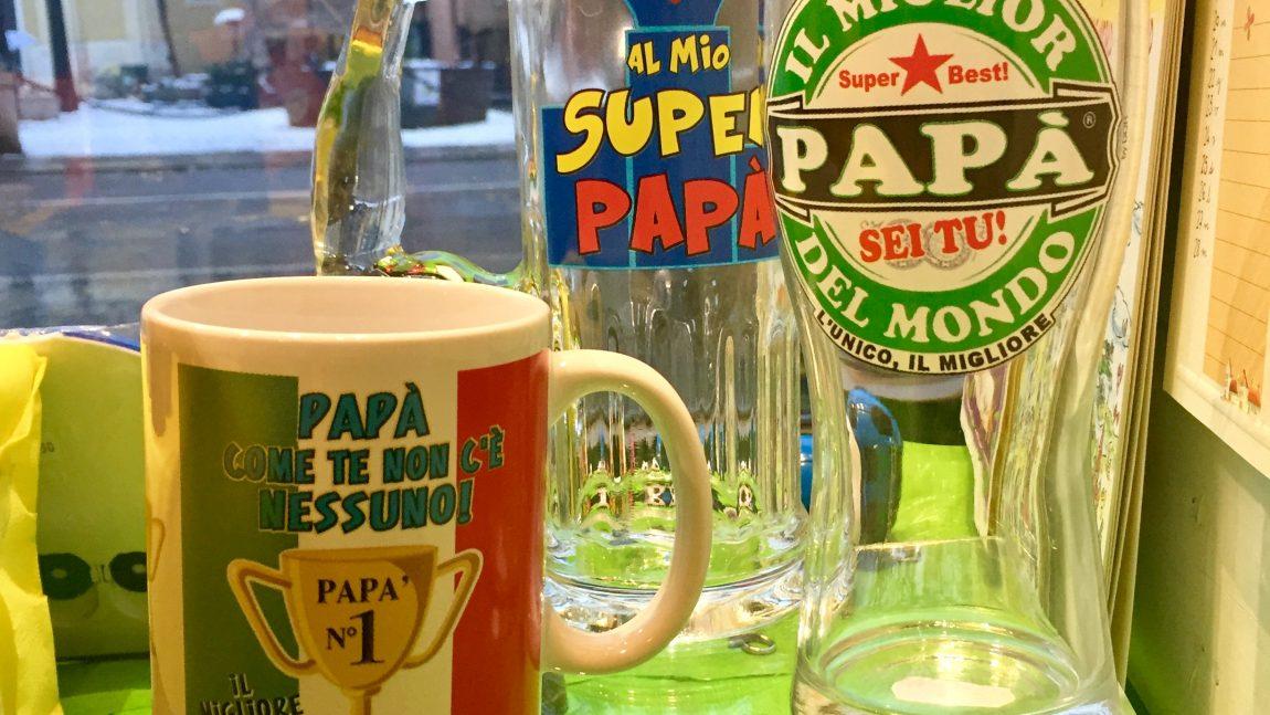 Tazze e Bicchieri per il tuo papà