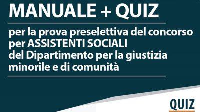 Concorso 250 funzionari ai servizi sociali