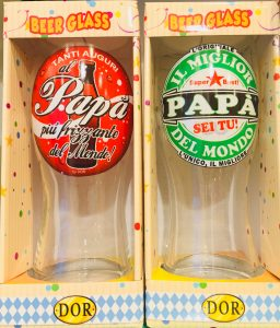 Bicchiere dedicato festa del papà