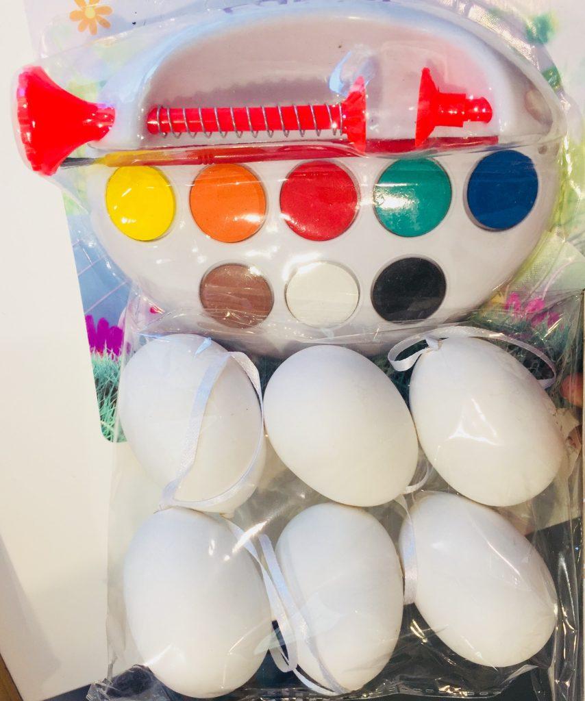 colori e stickers uova di pasqua
