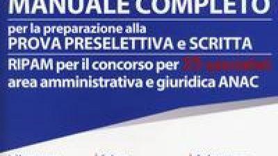 Concorso per 35 RIPAM Area amministrativa e giuridica ANAC