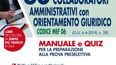Concorso MEF 80 Collaboratori Amministrativi