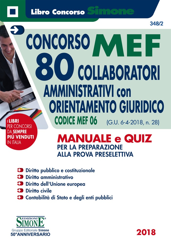 manuale e quiz codice MEF 06