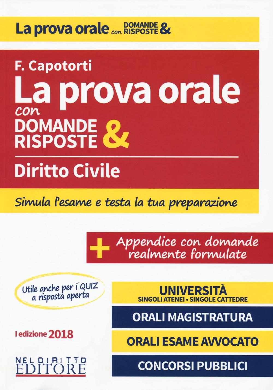 La prova orale con domande & risposte Diritto Civile