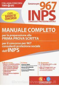 concorso INPS 2018