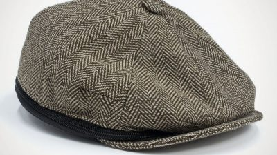 Beauty-case uomo a forma di cappello