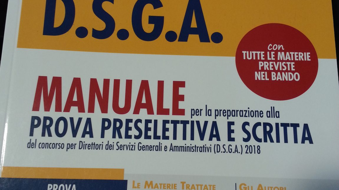 2004 posti per DSGA- Manuale