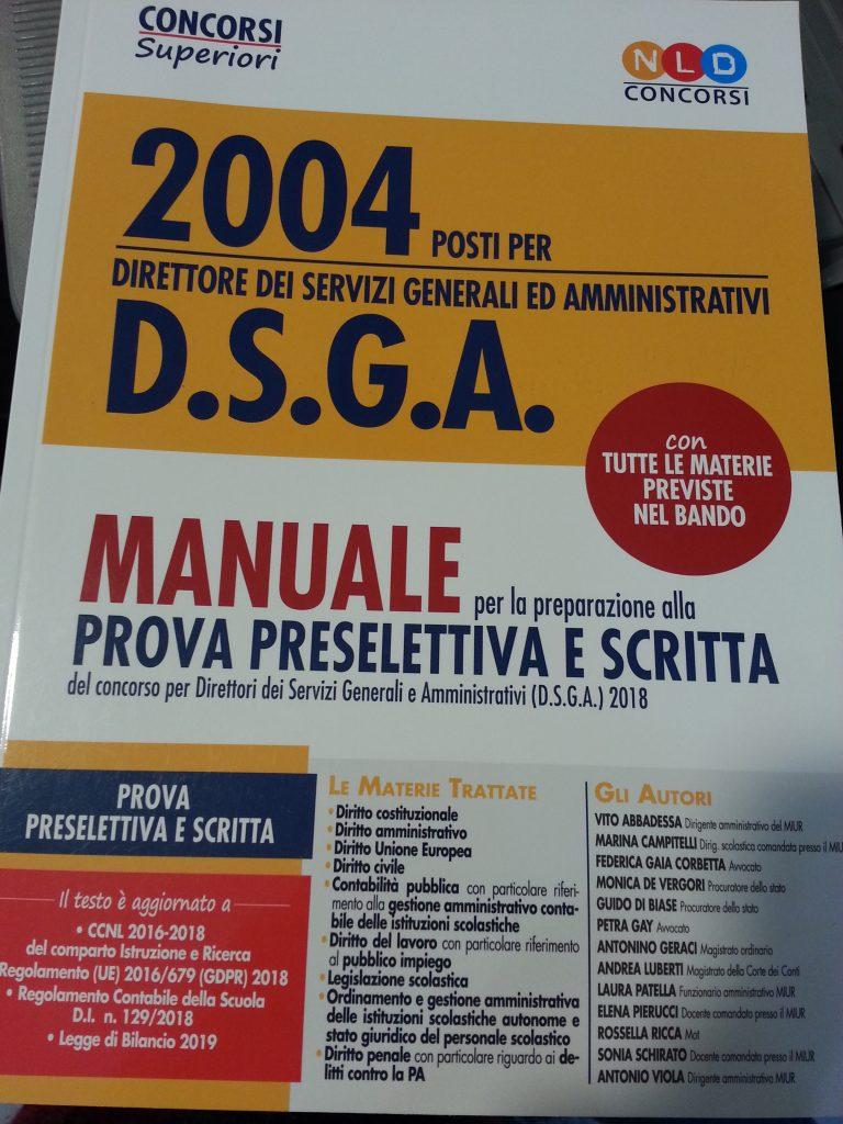 Manuale per il concorso di DSGA