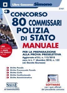 Manuale per la preparazione al concorso di commissario della polizia di stato