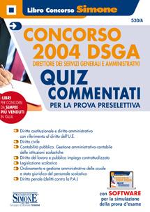 Libro con i quiz per il concorso di DSGA 2019