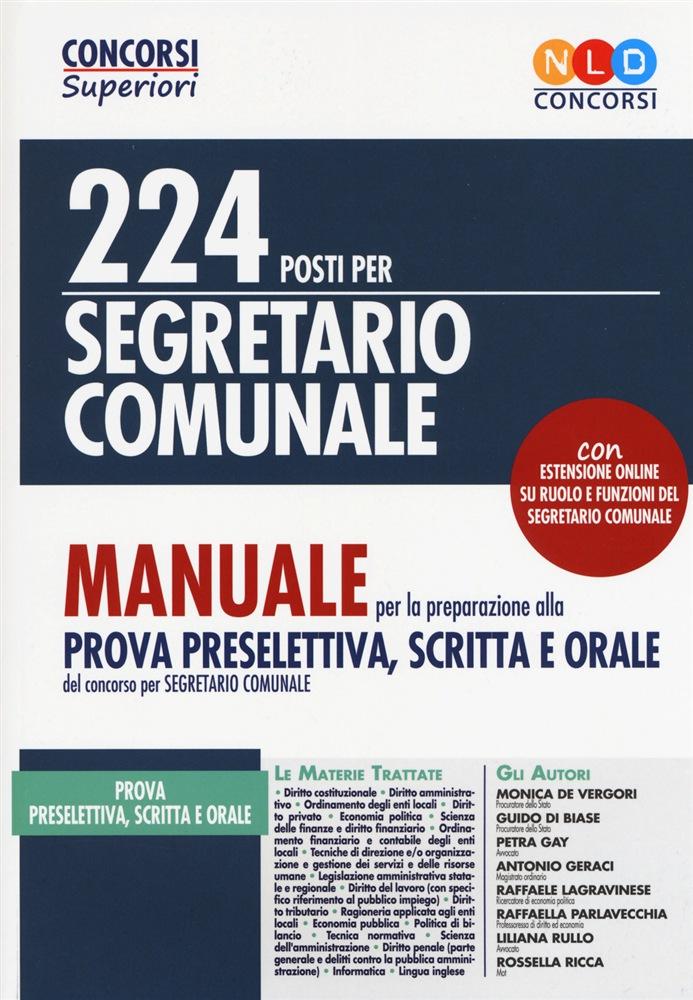 Concorso segretario comunale- Manuale