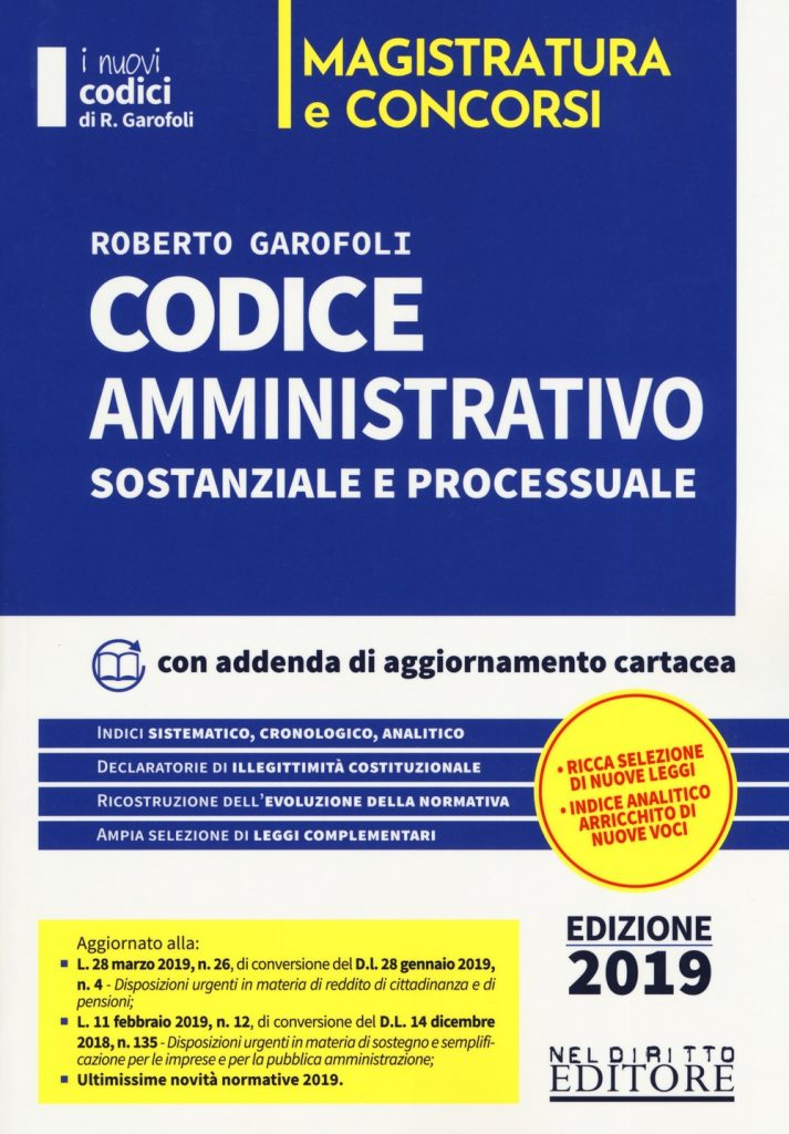 Concorso Magistrato 2019 - Codice Amministrativo