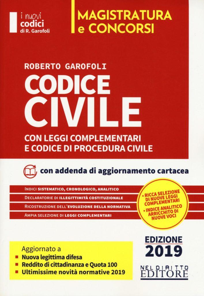 Codice civile Nel Diritto per il concorso di magistratura 2019
