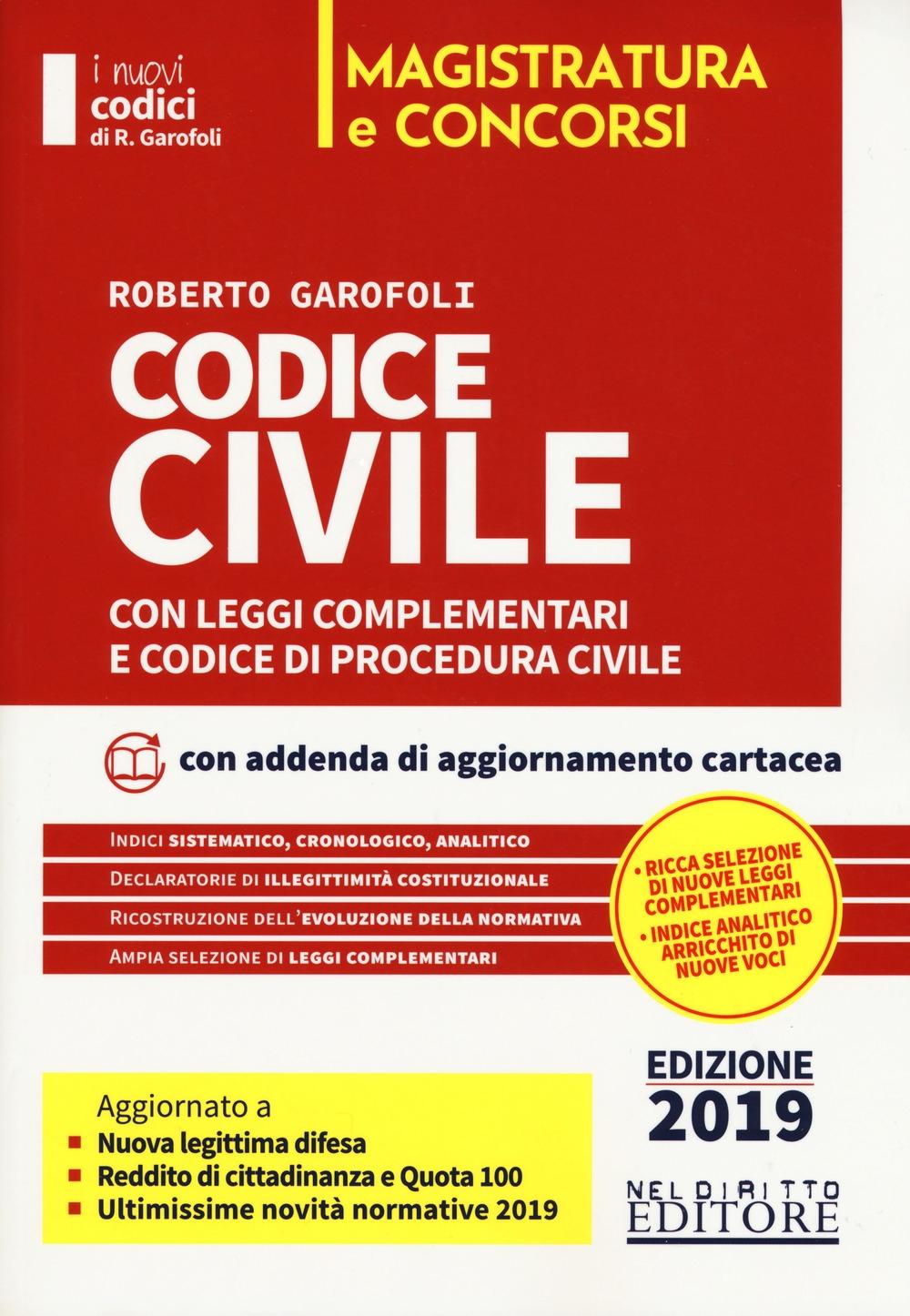 CODICE CIVILE con leggi complementari e codice di procedura civile