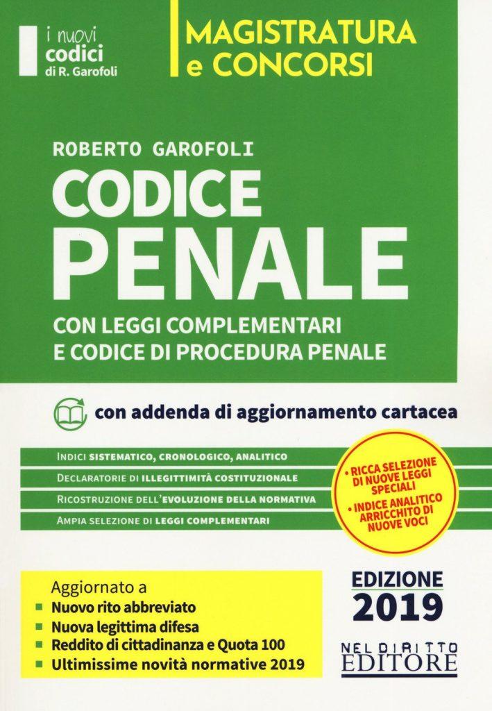 Concorso Magistratura 2019- Codice Penale