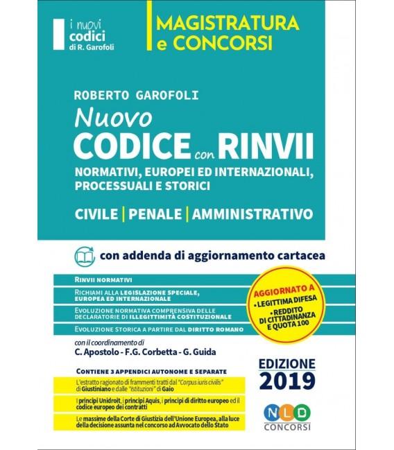 Concorso Magistratura 2019- Codice con Rinvii normativi