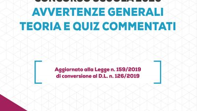 CONCORSO SCUOLA 2020 – AVVERTENZE GENERALI