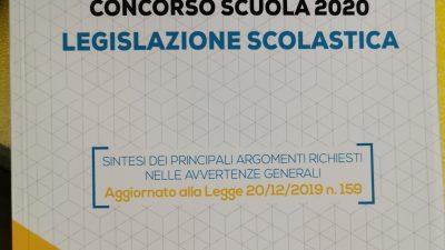 CONCORSO SCUOLA 2020 – LEGISLAZIONE SCOLASTICA