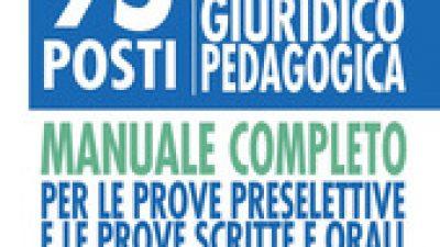 95 POSTI FUNZIONARI DELLA PROFESSIONALITA' GIURIDICO PEDAGOGICA