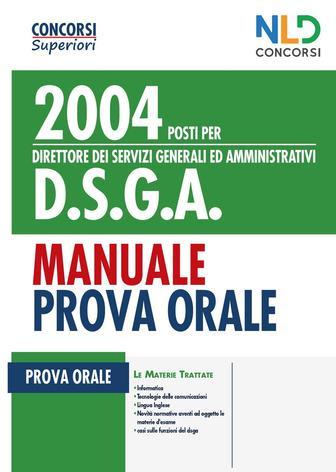 2004 POSTI PER D.S.G.A. PROVA ORALE