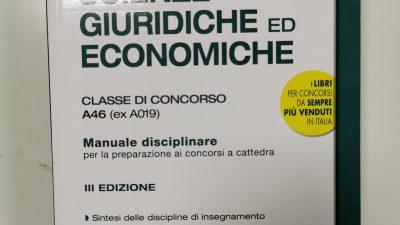 CONCORSO A CATTEDRA: CATEGORIA A46 SCIENZE GIURIDICHE ED ECONOMICHE