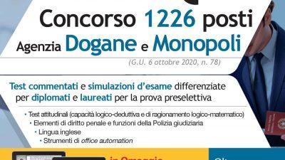 Agenzia DOGANE e MONOPOLI 4500 QUIZ per il concorso 1226 posti