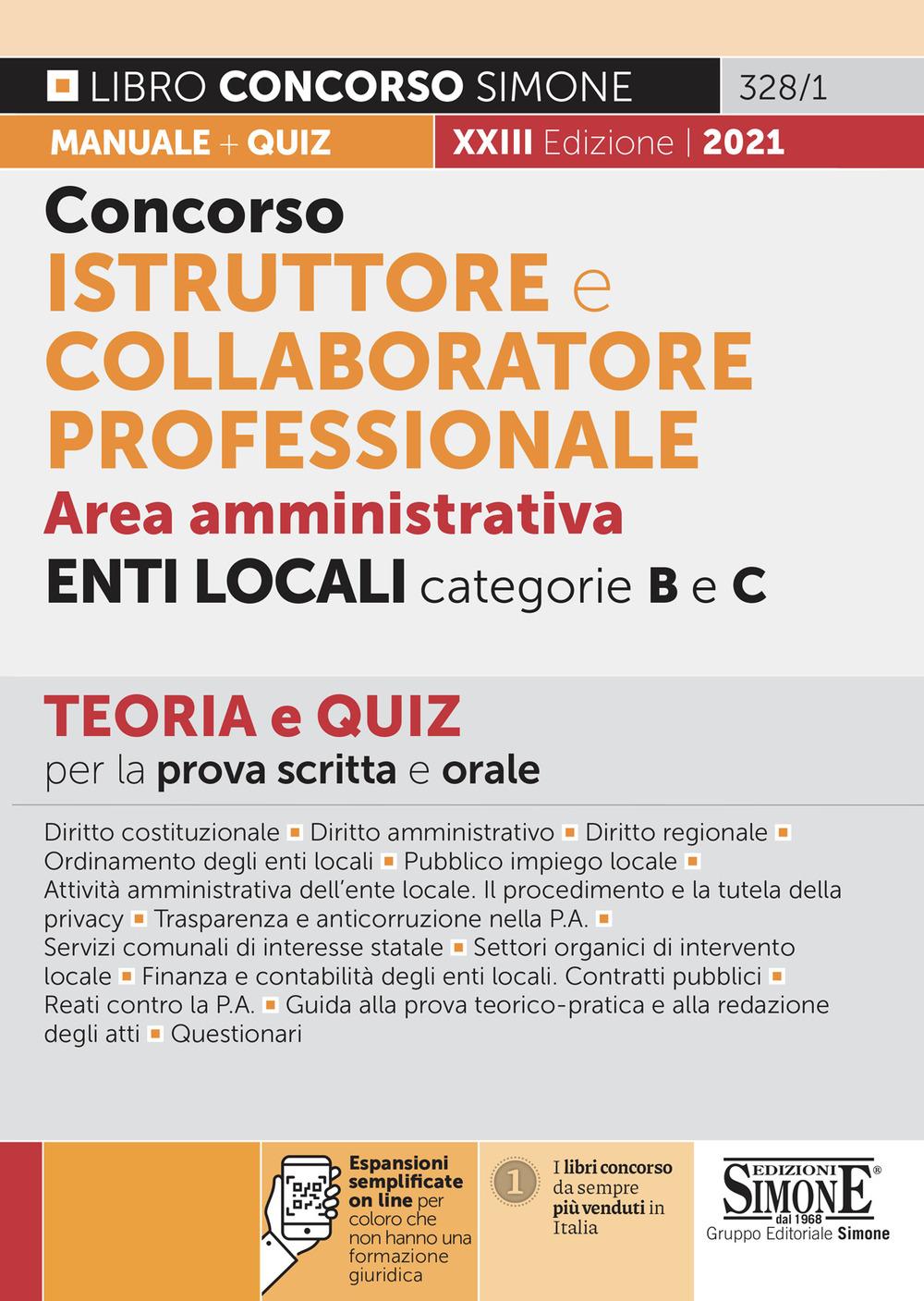 CONCORSO ISTRUTTORE E COLLABORATORE PROFESSIONALE Area Amministrativa Cat. B e C
