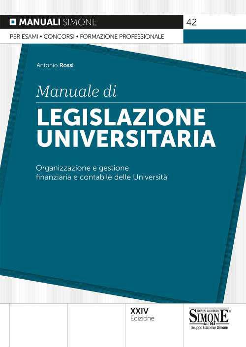 MANUALE DI LEGISLAZIONE UNIVERSITARIA ED. SIMONE