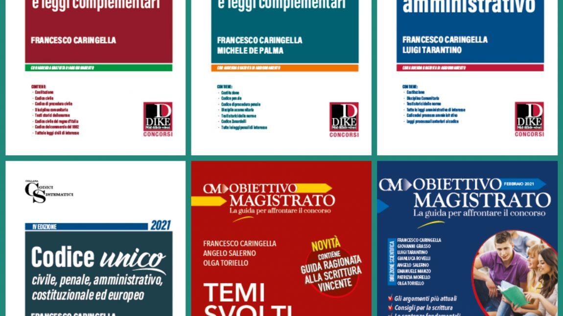 CONCORSO MAGISTRATURA 2021 – MANUALI E CODICI Dike