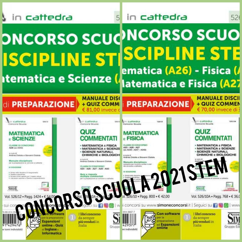 Concorso scuola 2021 discipline STEM