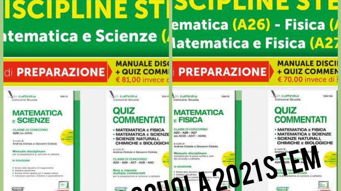 🤯🧑🏫📝🧮📚CONCORSO SCUOLA 2021 – DISCIPLINE STEM Kit Ediozioni Simone