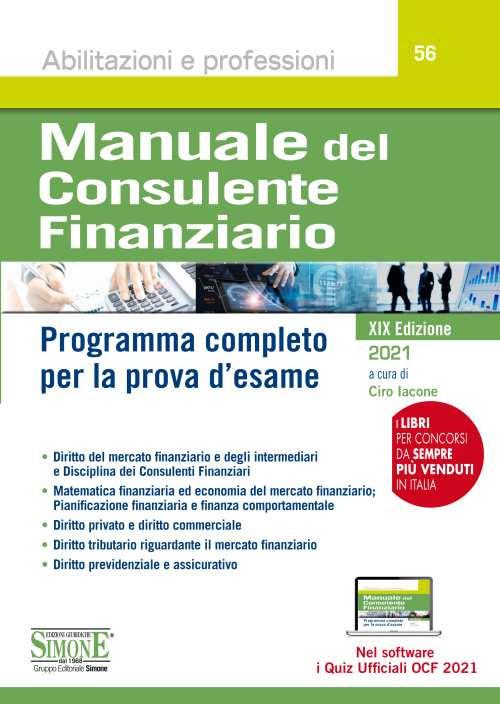 Manuale del Consulente Finanziario edizioni simone